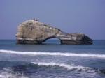 Peñón Sobresaliente en el Mar en Biarritz (Francia)
