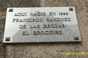 Inscripción de Casa El Brocense