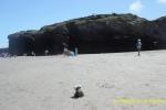 En la Playa de las Catedrales de Ribadeo