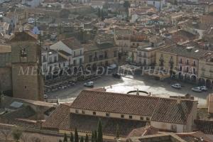 Plaza Mayor desde el Castillo de Trujillo