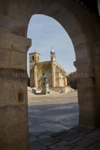 Plaza Mayor de Trujillo desde soportales