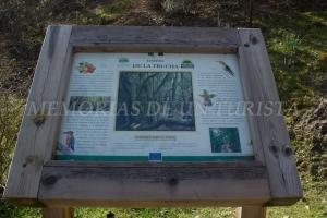Cartel informativo Lorera de la Trucha