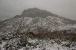 Sierra cubierta de nieve
