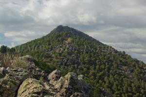 Subiendo a lo alto de la Sierra de Los Castillejos