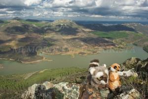 Mery y Pepe en lo alto de Risco Viejo