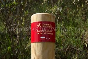 Indicación Camino Natural de Las Villuercas