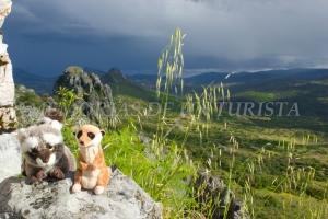 Mery y Pepe desde el Castillo de Cabañas