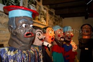 Cabezudos del museo