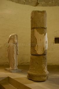 Columnas en el Centro de Interpretación