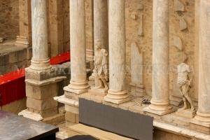 Estatuas del Teatro Romano de Mérida