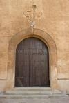 Puerta de la iglesia del Poblado Minero de Aldea Moret, Cáceres