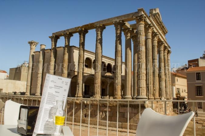 Templo de Diana desde el Carpe Diem