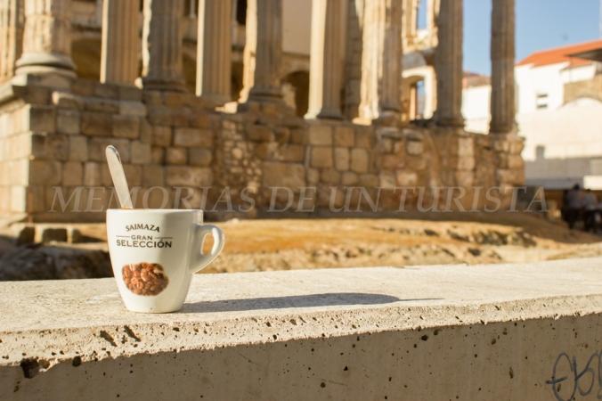 Café con leche en el Templo de Diana