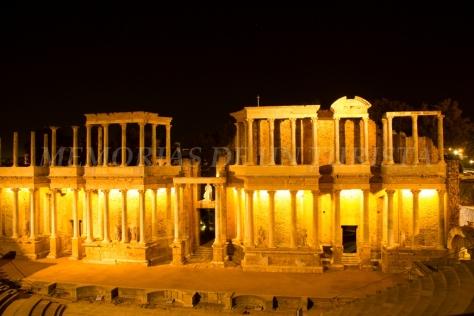 Teatro Romano de Mérida de noche