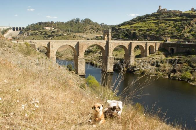 Mery y Pepe en el Puente Romano de Alcántara
