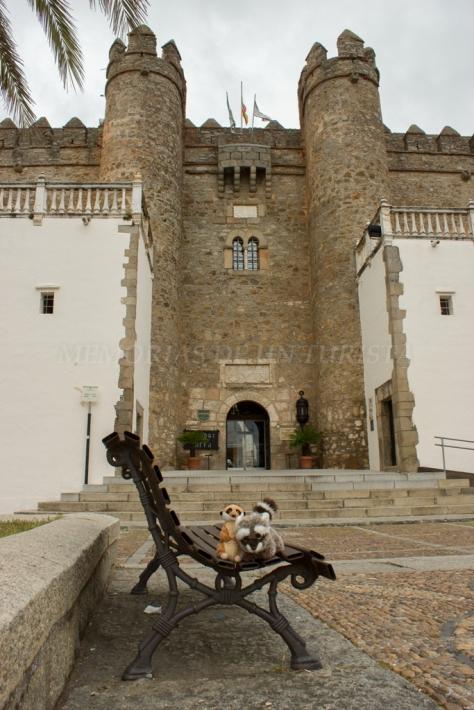Mery y Pepe en el Palacio de los Duque de Feria
