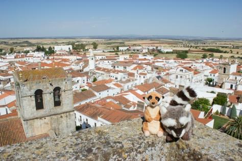 Mery y Pepe desde la Torre del Homenaje