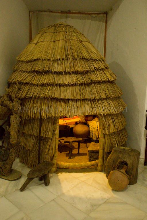 Chozo en el museo