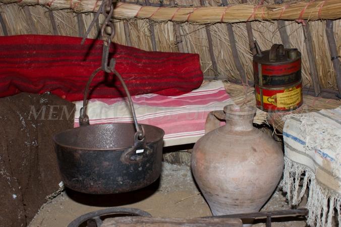 Interior del chozo