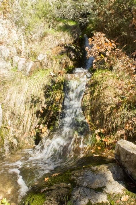 Pequeña cascada de agua