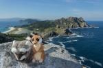 Mery y Pepe desde el Alto do Príncipe, en las Islas Cíes